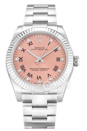 劳力士蚝式恒动高贵粉红彩手表