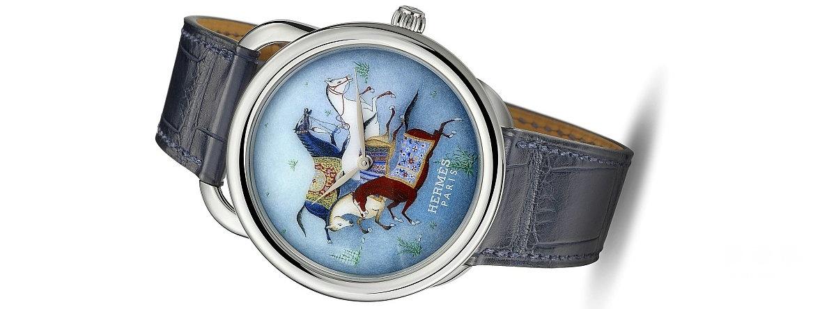 爱马仕Galloping H大明火珐琅彩绘手表